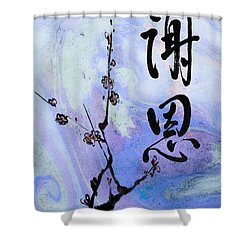 Thank You Shaon Gratitude Shower Curtain by Peter v Quenter