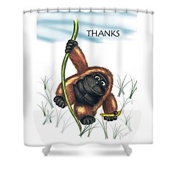 Thanks Shower Curtain by Jerry Ruffin
