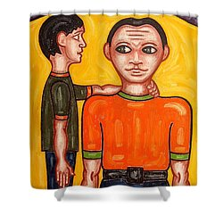 Thanks Dad Shower Curtain by Patrick J Murphy