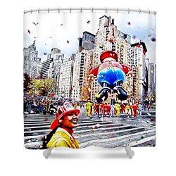 Thanksgiving Parade Shower Curtain by Nishanth Gopinathan