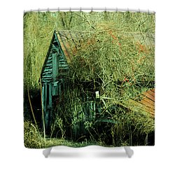 That Old Barn Shower Curtain by Rebecca Sherman
