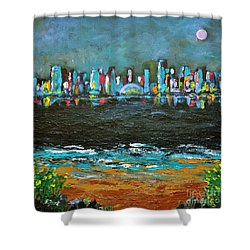 That Other Place Shower Curtain by Reb Frost