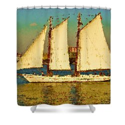 That Ship Shower Curtain by Alice Gipson