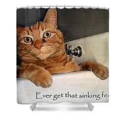 That Sinking Feeling Shower Curtain