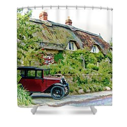 Thatched Cottages At Reybridge Shower Curtain