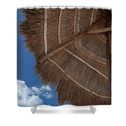 Thatched Umbrella Shower Curtain