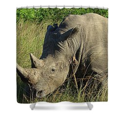 That's Close Enough Shower Curtain by Ramona Johnston