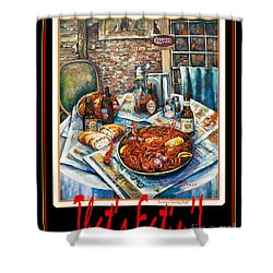 That's Eatin'  Shower Curtain by Dianne Parks