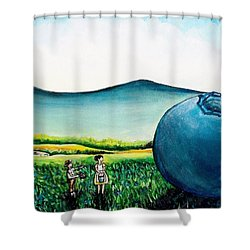 That's Gonna Make A Lot Of Pies Shower Curtain by Shana Rowe Jackson
