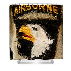 The 101st Airborne Emblem Painting Shower Curtain