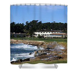 The 18th At Pebble Beach Shower Curtain by Barbara Snyder