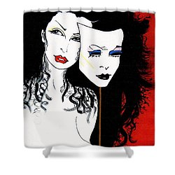 The 2 Face Girl Shower Curtain