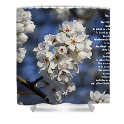 The 23rd Psalms Shower Curtain by Kathy Clark