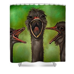The 3 Tenors Edit 2 Shower Curtain by Leah Saulnier The Painting Maniac