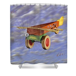 The 356th Toy Plane Squadron 2 Shower Curtain by Mike McGlothlen