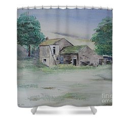 The Abandoned House Shower Curtain by Martin Howard