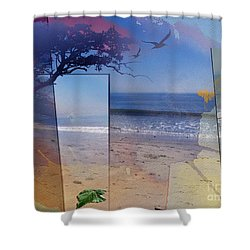 The Abstract Beach Shower Curtain by Bedros Awak