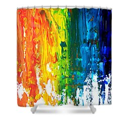 The Abstract Rainbow Beach Series I Shower Curtain by M Bleichner