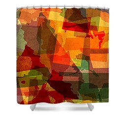 The Abstract States Of America Shower Curtain by Design Turnpike