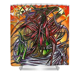 The Abysmal Demon Of Hair Shower Curtain by Shawn Dall