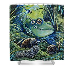 The Acorn Shower Curtain
