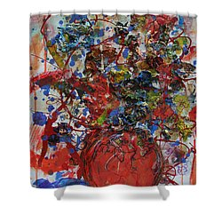 The Acrylic Bouquet  Shower Curtain by Avonelle Kelsey