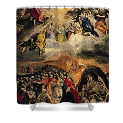 The Adoration Of The Name Of Jesus Shower Curtain by El Greco Domenico Theotocopuli