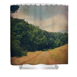 The Adventure Begins Shower Curtain by Laurie Search