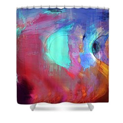The Afterglow Shower Curtain by Linda Sannuti