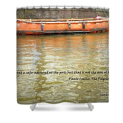 The Aim Of Boats Shower Curtain