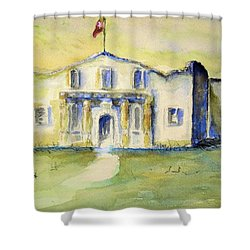 Shower Curtain featuring the painting The Alamo  by Bernadette Krupa