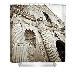 The Alamo Shower Curtain by Linda Unger