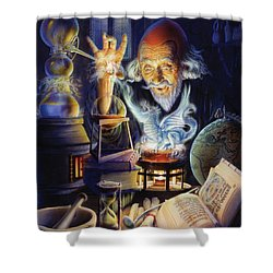 The Alchemist Shower Curtain by Andrew Farley