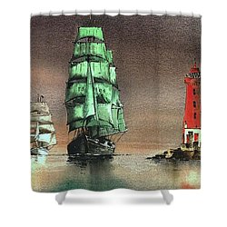 The Alex At The Poolbeg Lighthouse Shower Curtain
