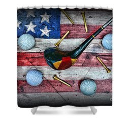 The All American Golfer Shower Curtain by Paul Ward