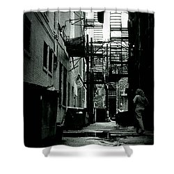 The Alleyway Shower Curtain by Michelle Calkins