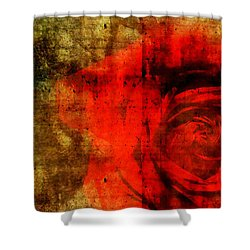 The Allure Of A Rose Shower Curtain by Brett Pfister