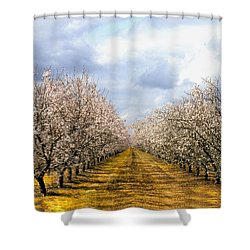 The Almond Orchard Shower Curtain