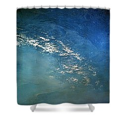 The Alps From Space Shower Curtain by Anonymous