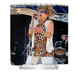 The Amazing Lydia Pense Shower Curtain by Fiona Kennard