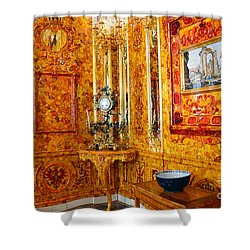The Amber Room At Catherine Palace Shower Curtain