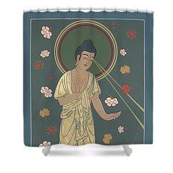 The Amitabha Buddha Descending 247 Shower Curtain