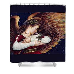The Angel And The Dove Shower Curtain