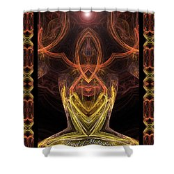 The Angel Of Meditation Shower Curtain