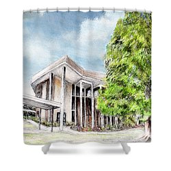 The Angles Of A Modern Architecture  Shower Curtain by Danuta Bennett