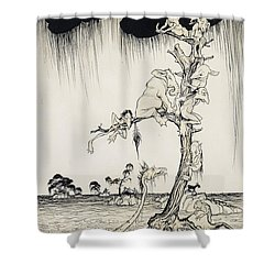 The Animals You Know Are Not As They Are Now Shower Curtain by Arthur Rackham
