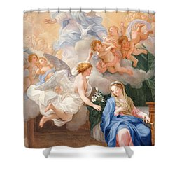 The Annunciation Shower Curtain by Giovanni Odazzi