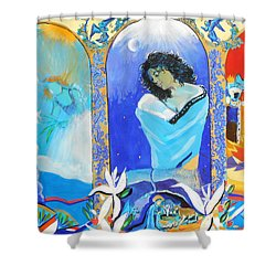 The Annunciation Shower Curtain by Lucia Hoogervorst