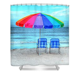 The Answer To Prozac Shower Curtain by Debbi Granruth