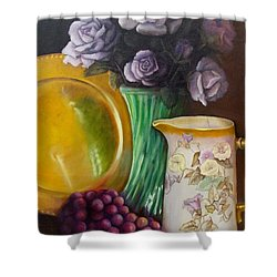 The Antique Pitcher Shower Curtain by Marlene Book